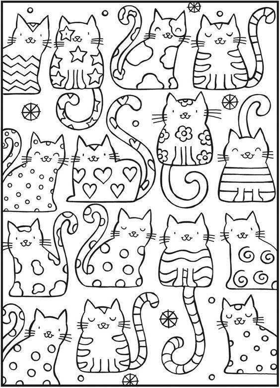 Cool Coloring Sheets Printable For Boys  고양이 컬러링북 도안 색칠공부 프린트해서 사용하세요 어린이집