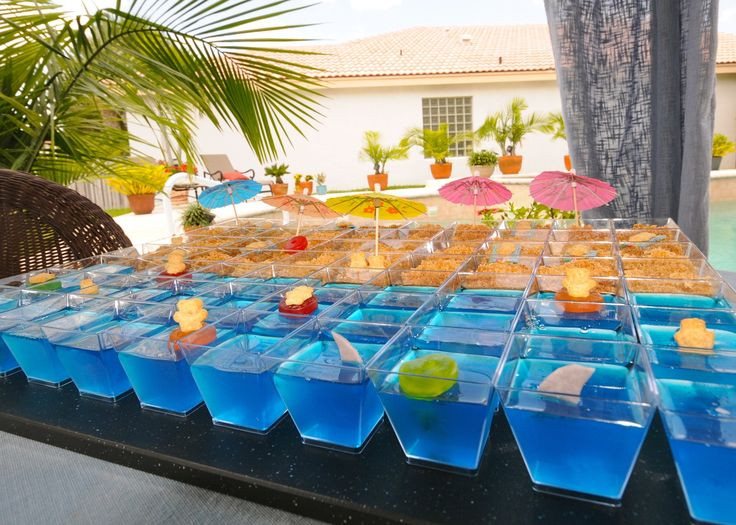 """Cool Pool Party Ideas  Cool beach birthday pool party dessert """"cake"""" Make the"""