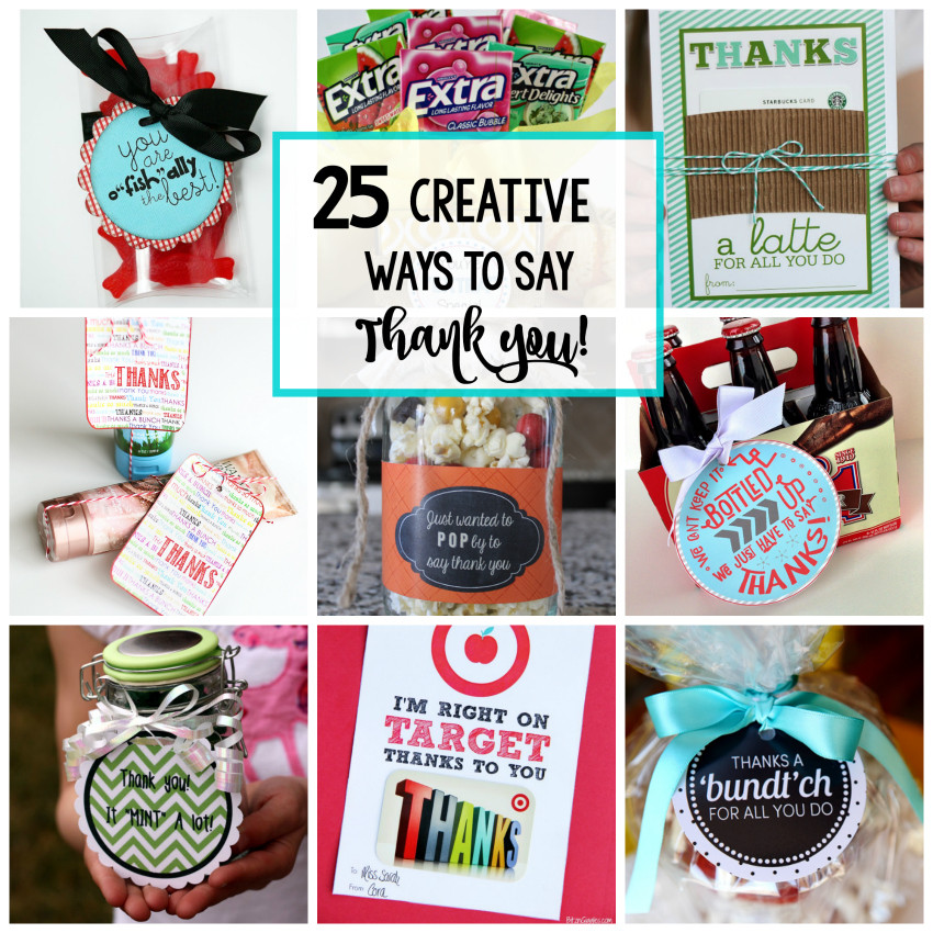 Cool Thank You Gift Ideas  25 Creative Ways to Say Thank You Crazy Little Projects