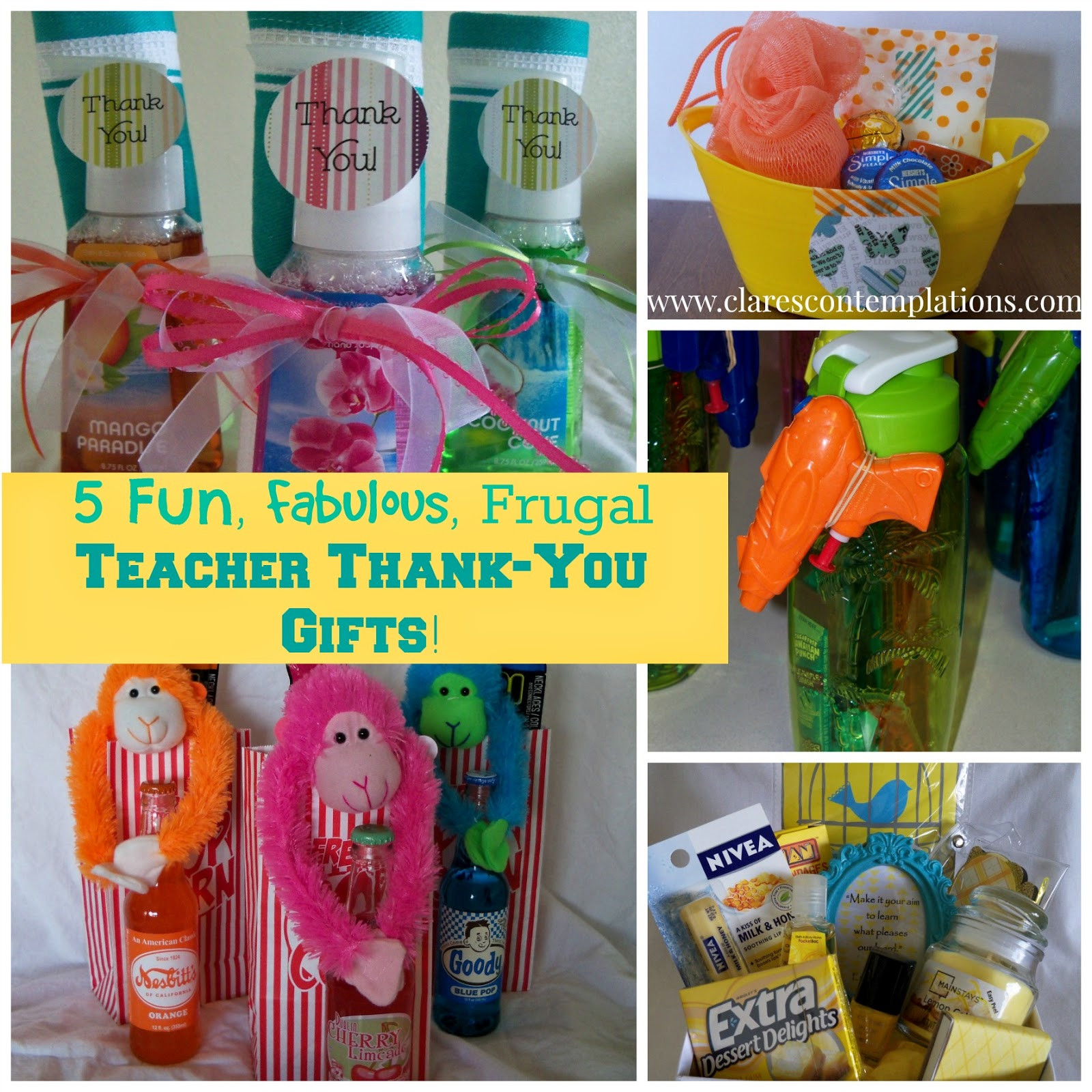 Cool Thank You Gift Ideas  Clare s Contemplations 5 Unique Thoughtful and Frugal