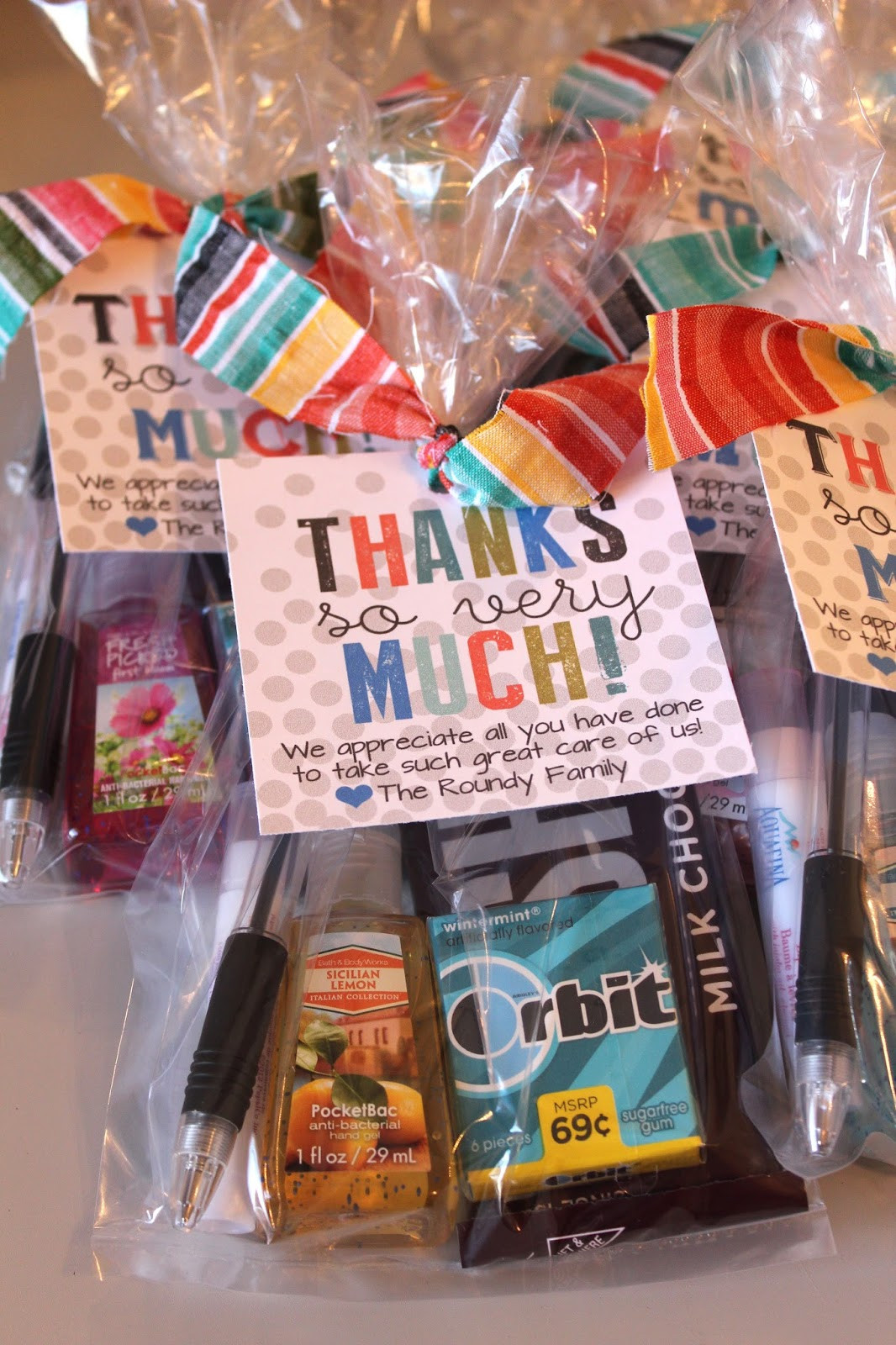 Cool Thank You Gift Ideas  Kinzie s Kreations Hospital Thank You Cards
