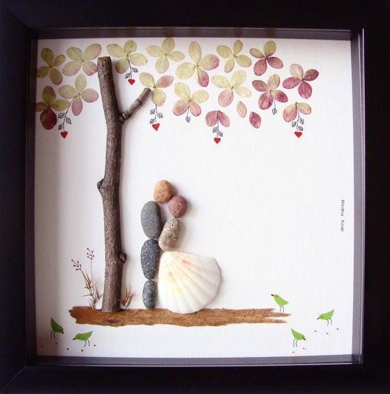 Cool Wedding Gift Ideas  Unique Wedding Gift For Couple Wedding Pebble Art Unique