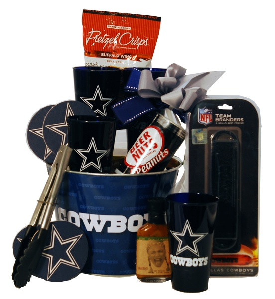Cowboys Gift Ideas  Dallas Cowboys Tailgating Gift Basket You will score a