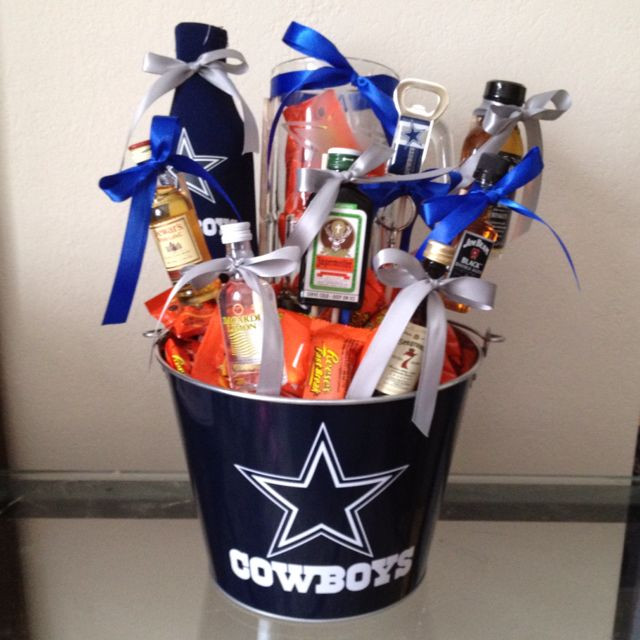 Cowboys Gift Ideas  Drink basket I made this for my husband for valentines