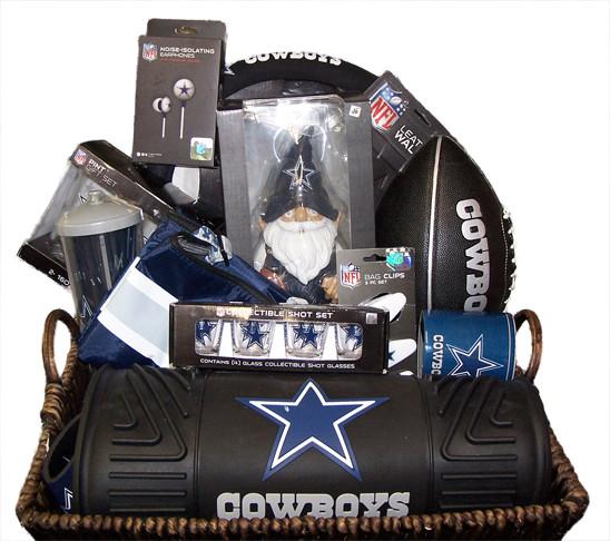Cowboys Gift Ideas  Dallas Cowboy's Designer Gift Basket
