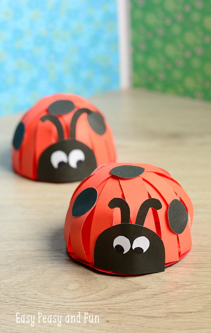 Crafts For Kids  Paper Ladybug Craft Easy Peasy and Fun
