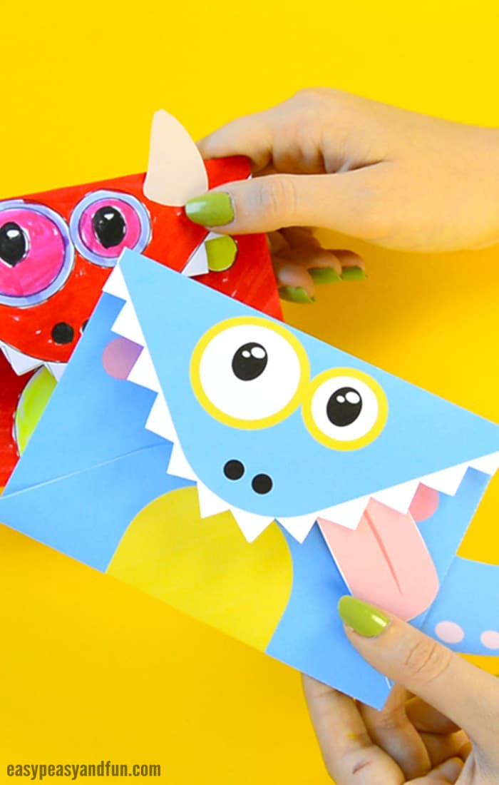 Crafts For Kids  Printable Monster Envelopes Easy Peasy and Fun