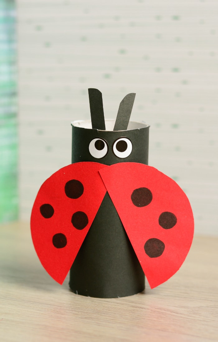 Crafts For Kids  Toilet Paper Roll Ladybug Craft Easy Peasy and Fun