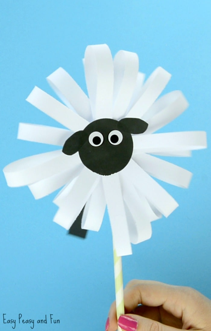 Crafts For Kids  Paper Sheep Craft Easy Peasy and Fun