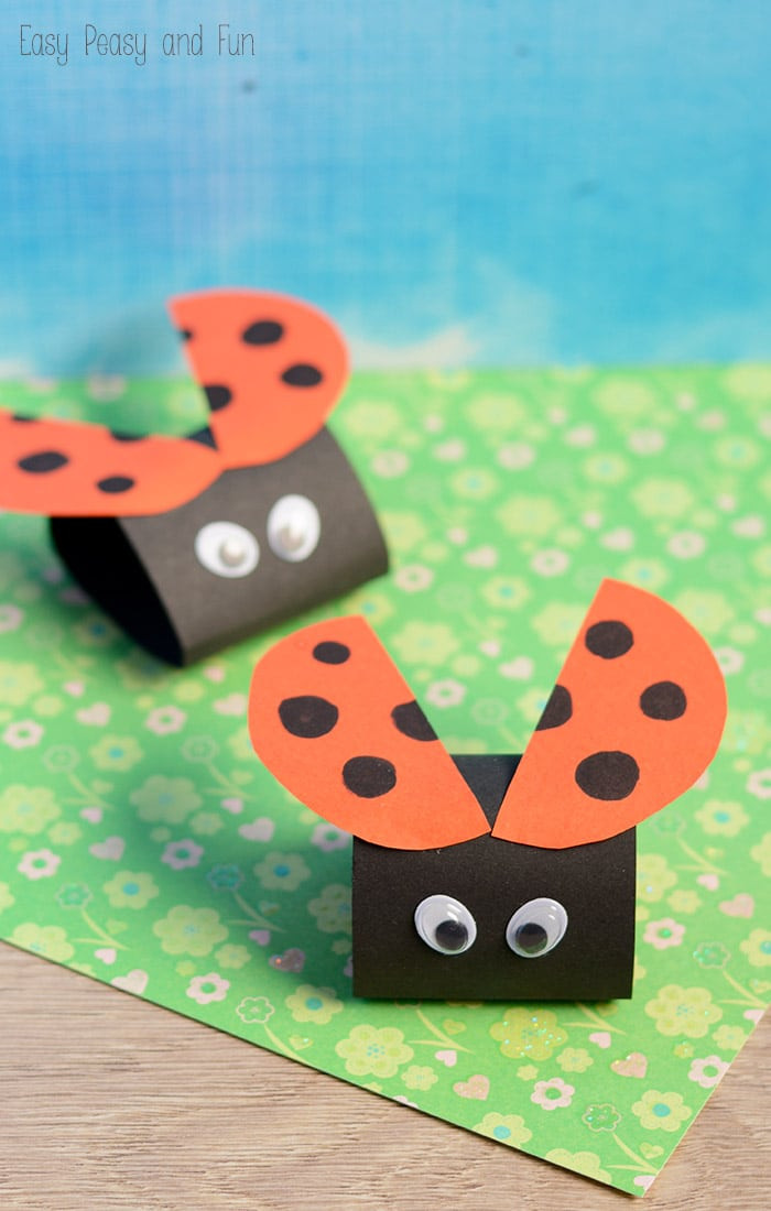 Crafts For Kids  Simple Ladybug Paper Craft Easy Peasy and Fun