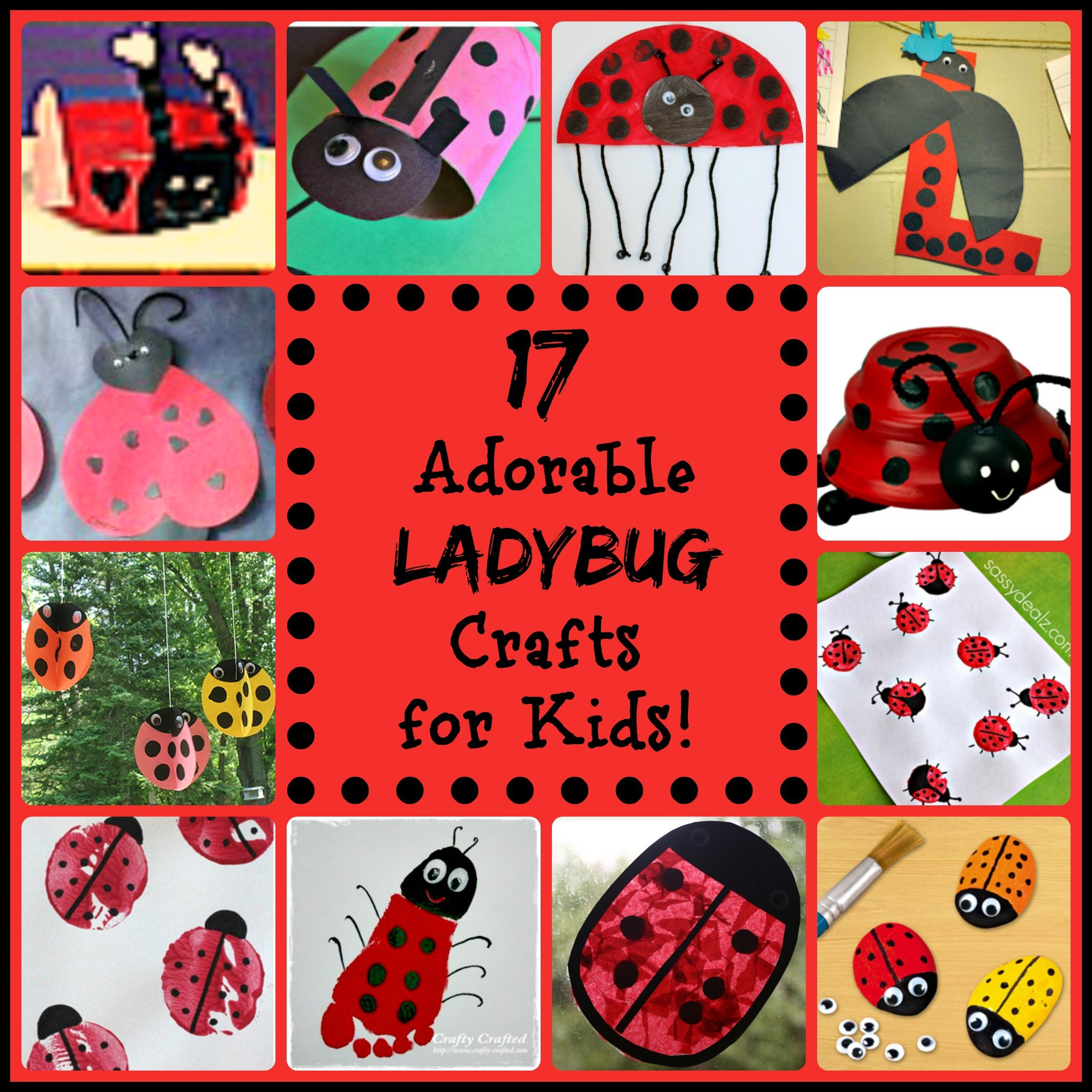 Crafts For Little Kids  17 Little Ladybug Crafts for Kids