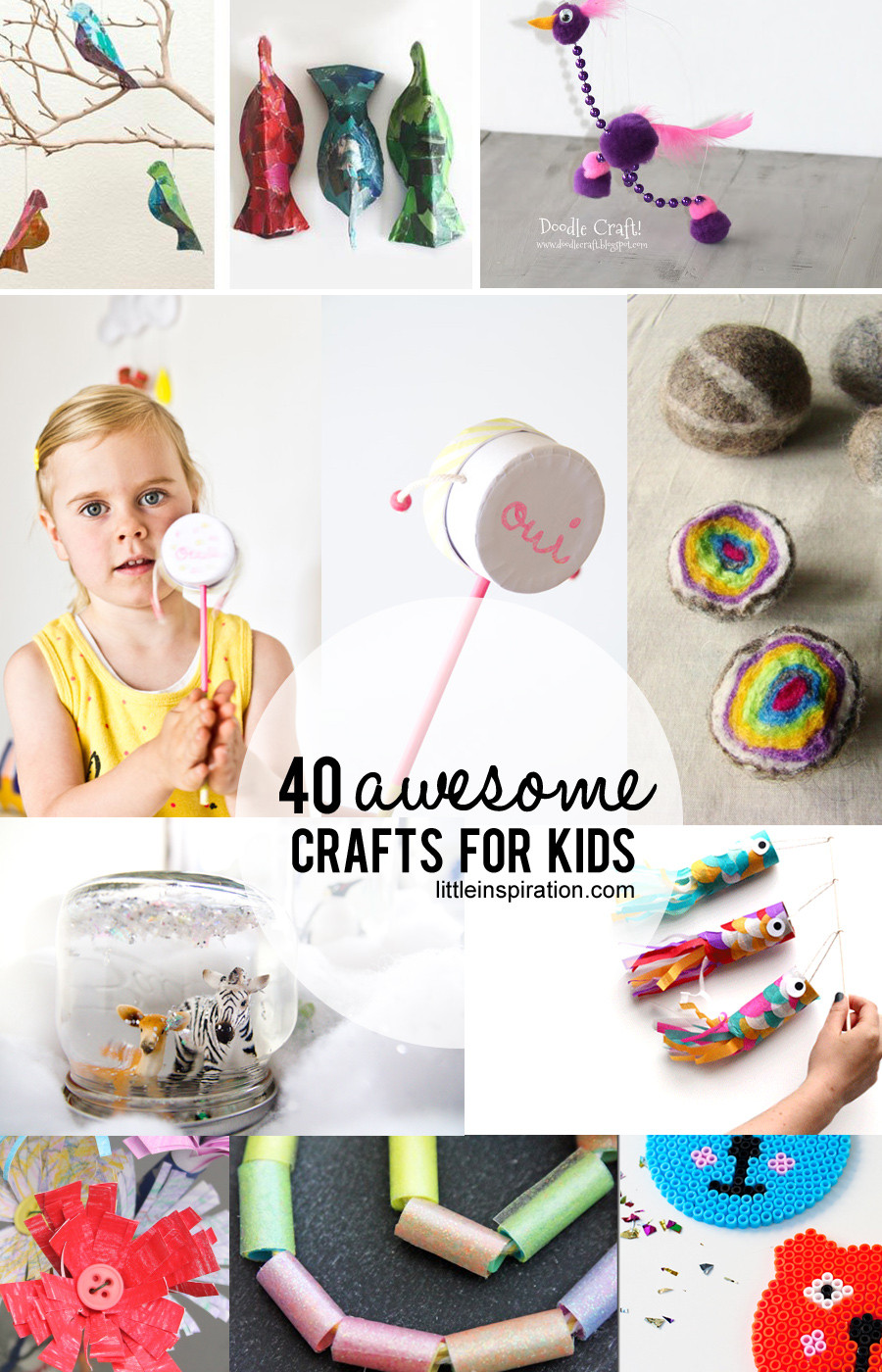 Crafts For Little Kids  40 Awesome Crafts for Kids Little Inspiration