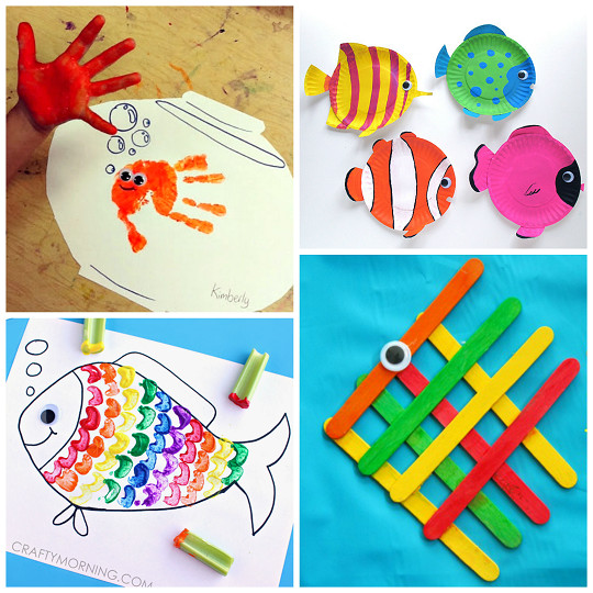 Crafts For Little Kids  Creative Little Fish Crafts for Kids Crafty Morning