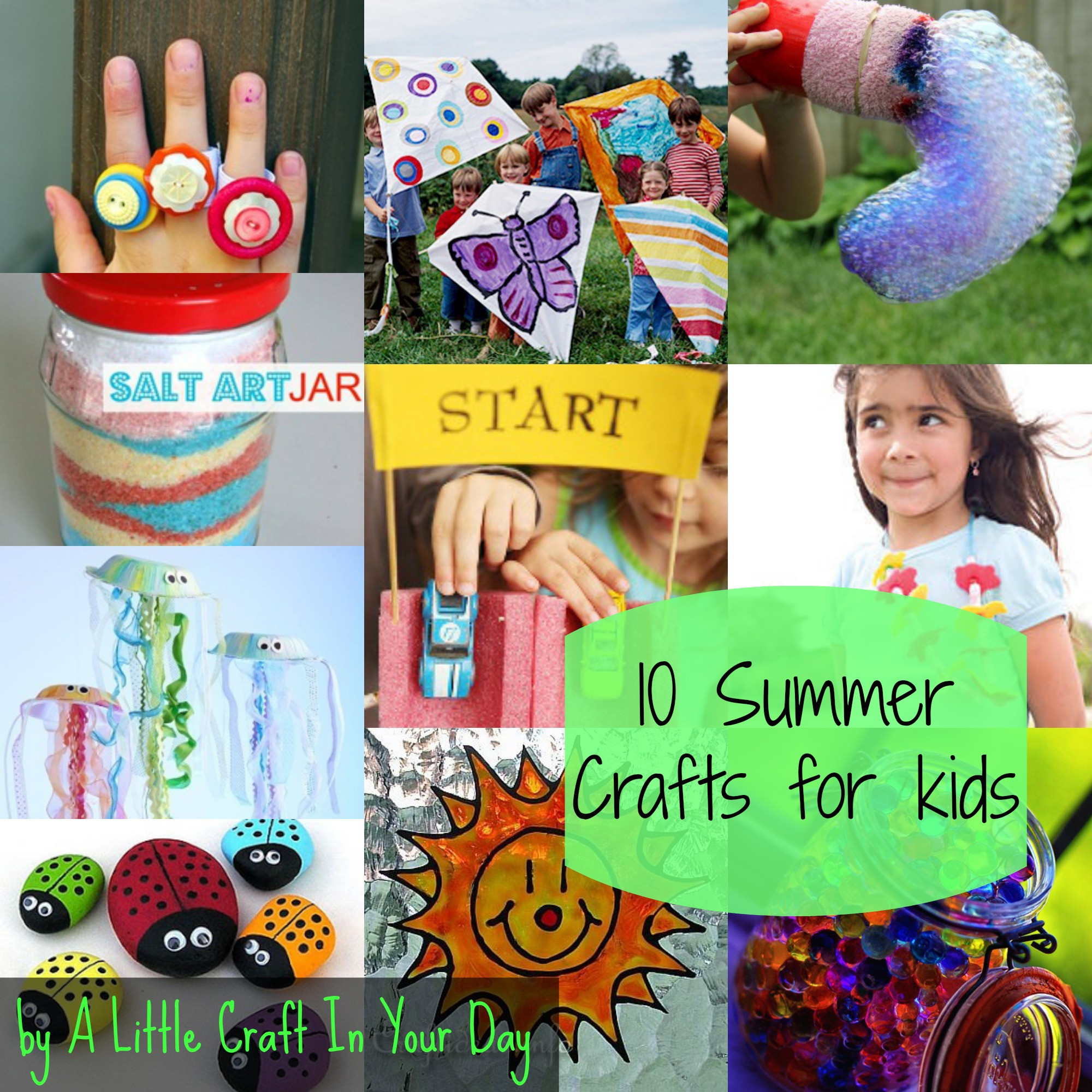 Crafts For Little Kids  20 Summer Kid Crafts A Little Craft In Your Day