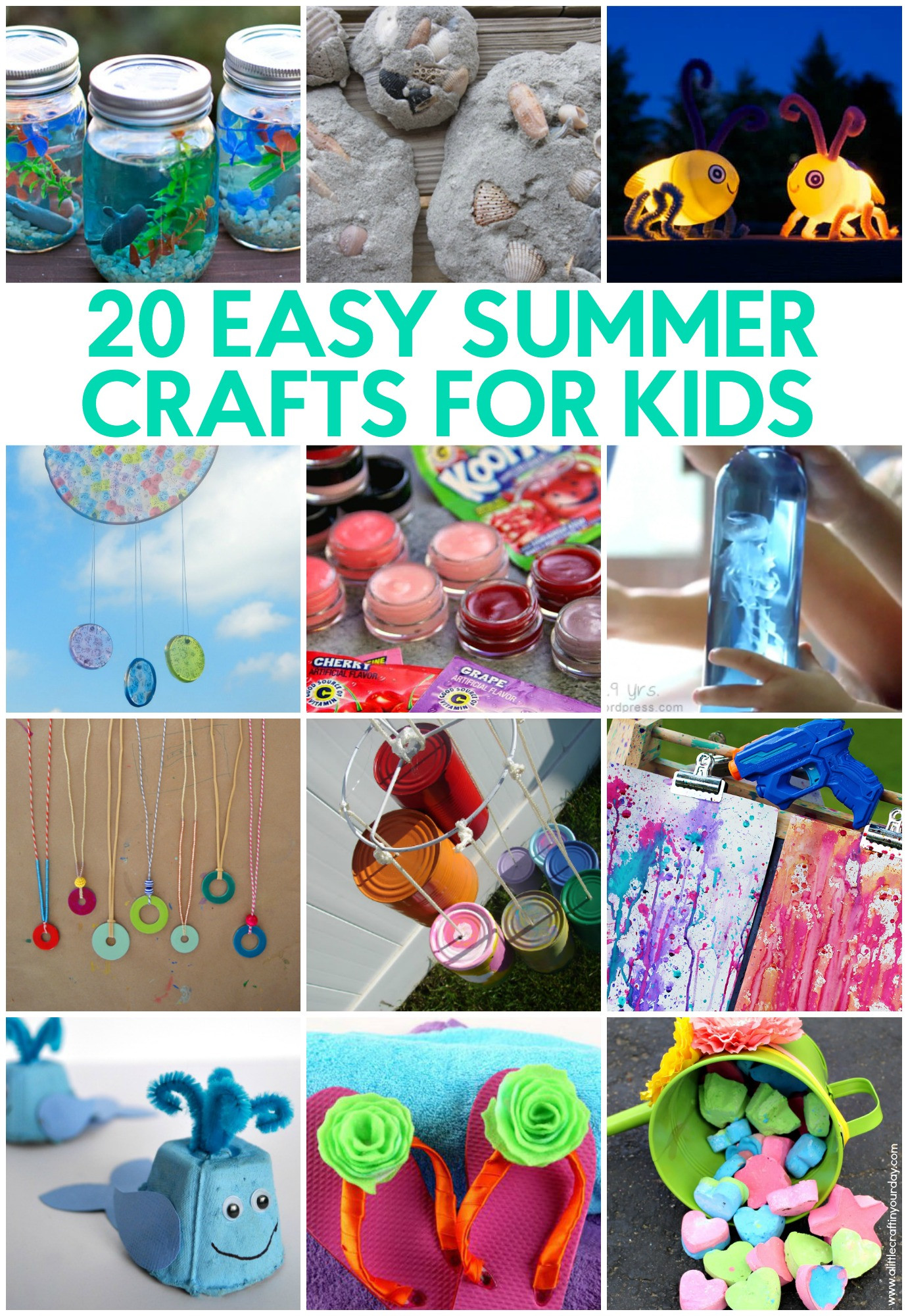 Crafts For Little Kids  20 Easy Summer Crafts for Kids A Little Craft In Your Day