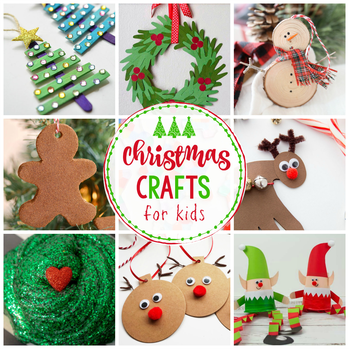 Crafts For Little Kids  25 Easy Christmas Crafts for Kids Crazy Little Projects