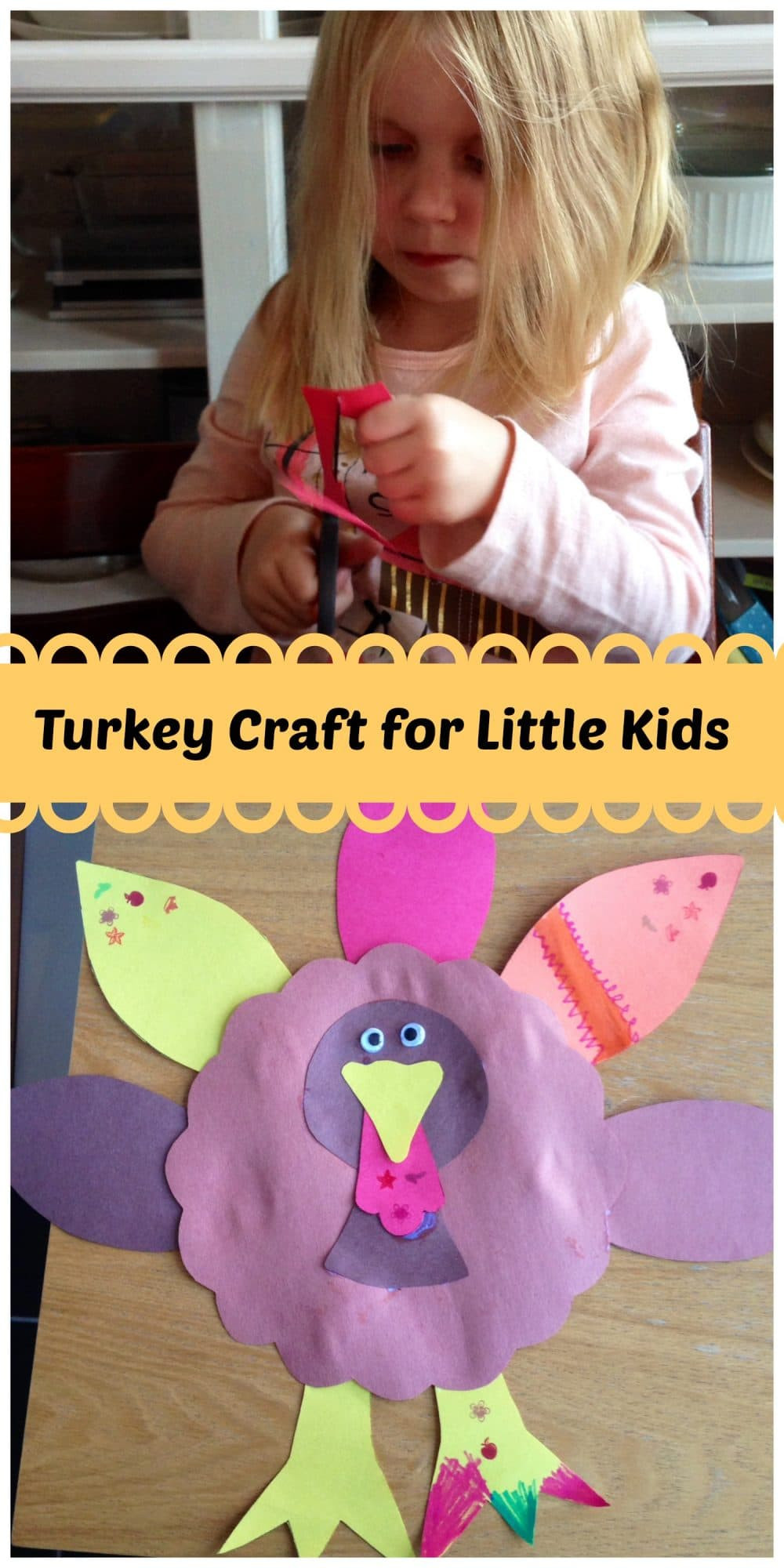 Crafts For Little Kids  Turkey Craft for Kids Big and Little Family Food And Travel