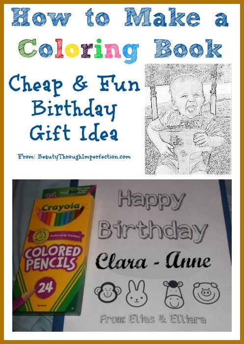 Create A Coloring Book  How to Make Your Own Coloring Book Cheap Birthday Gift