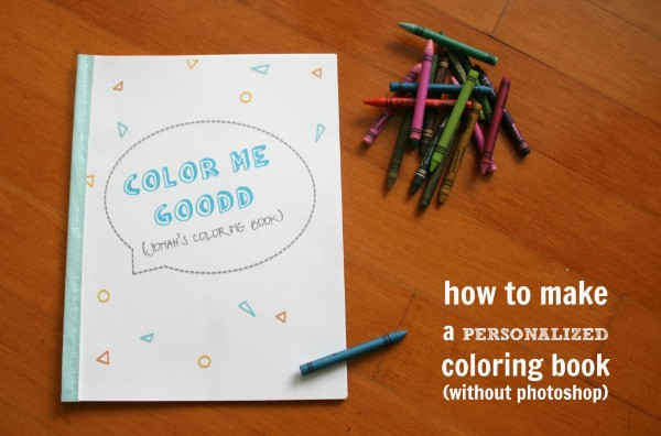 Create A Coloring Book  Homemade Christmas Gifts C R A F T