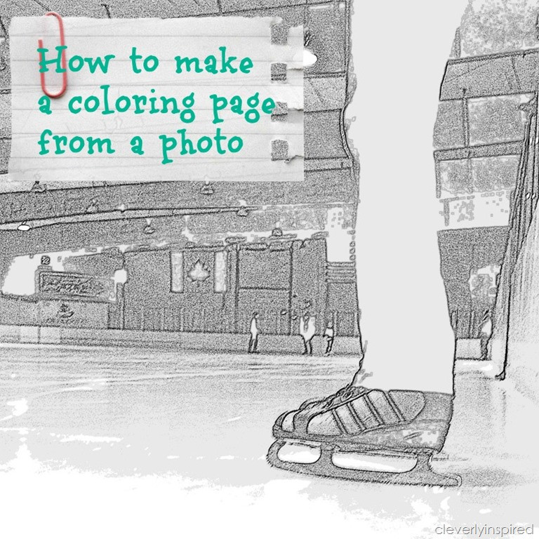 Create A Coloring Book  How to make a coloring page from a photo