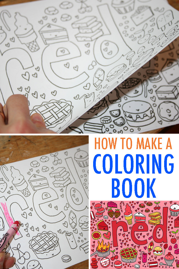 Create A Coloring Book  Make Your Own Coloring Book FREE Tutorial