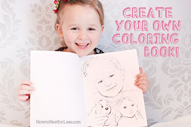 Create A Coloring Book  Make Your Own Coloring Book with Family s How to