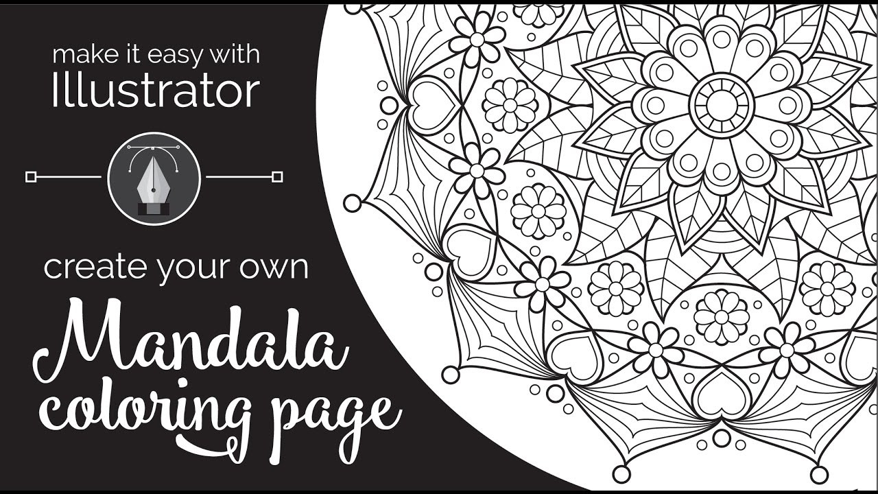 Create A Coloring Book  Make it Easy with Illustrator Create Your Own Mandala
