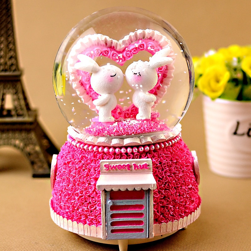 Creative Gift Ideas For Girlfriend  Crystal ball music box manualidades creative birthday t