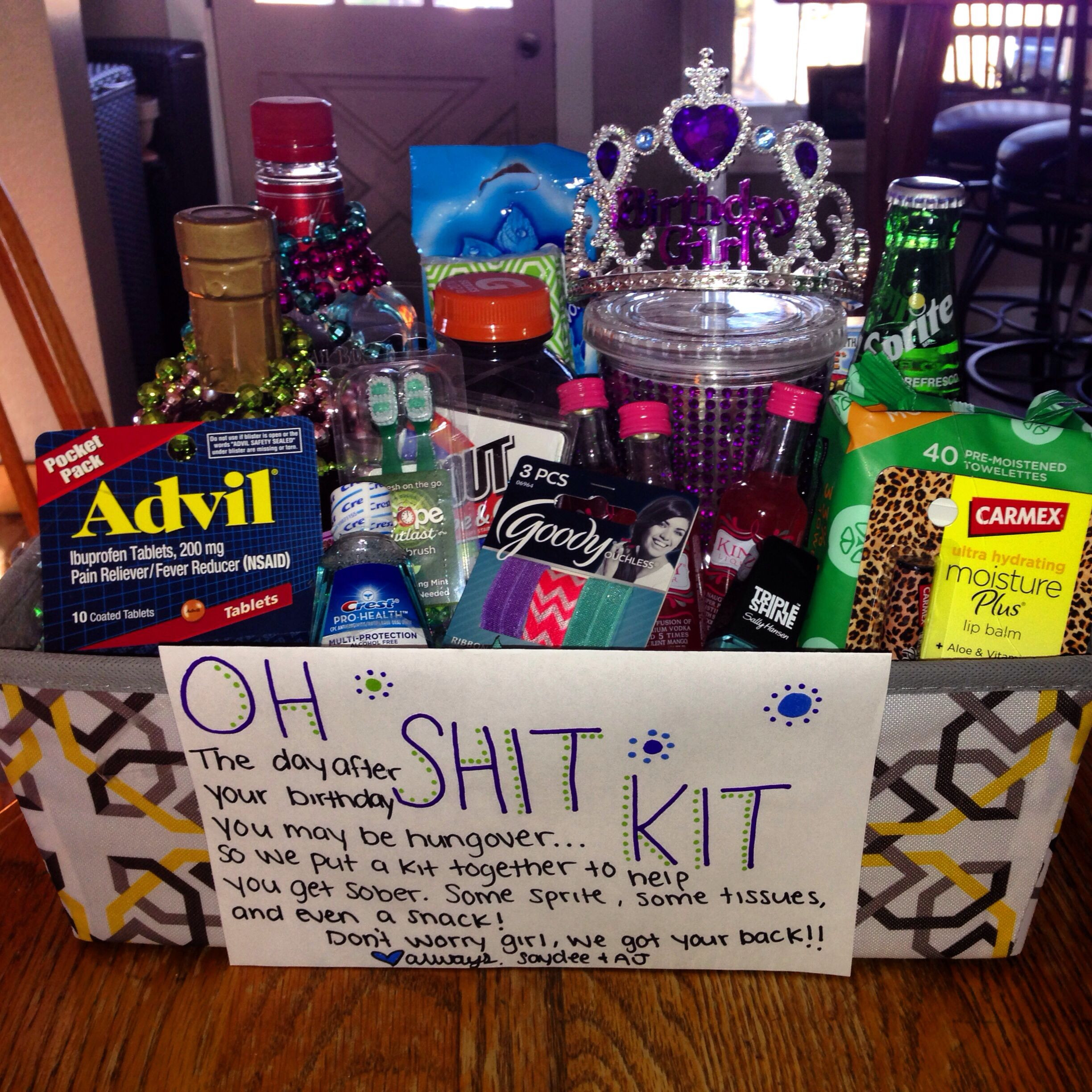 Creative Gift Ideas For Girlfriend  Birthday present for my girlfriends 21 st birthday 21