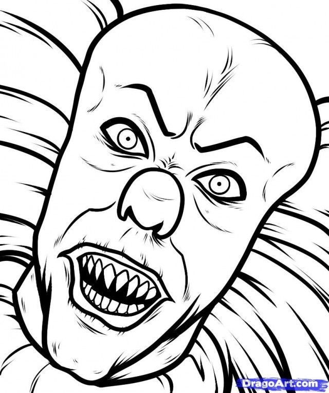 Creepy Coloring Pages  Creepy Doll Coloring Pages Coloring Home