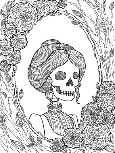 Creepy Coloring Pages  Best Halloween Coloring Books for Adults Cleverpedia