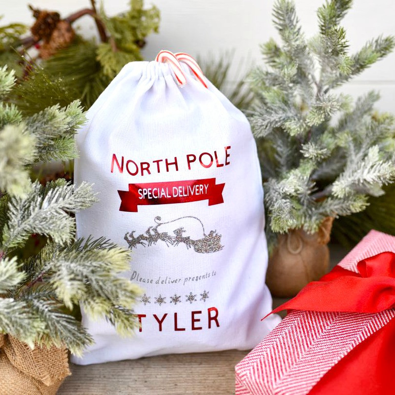 Cricut Christmas Gift Ideas  DIY Personalized Christmas Sack for Kids Make Life Lovely