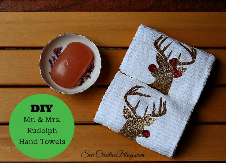 Cricut Christmas Gift Ideas  Handmade Hostess Christmas Gift Idea Mr and Mrs Rudolph