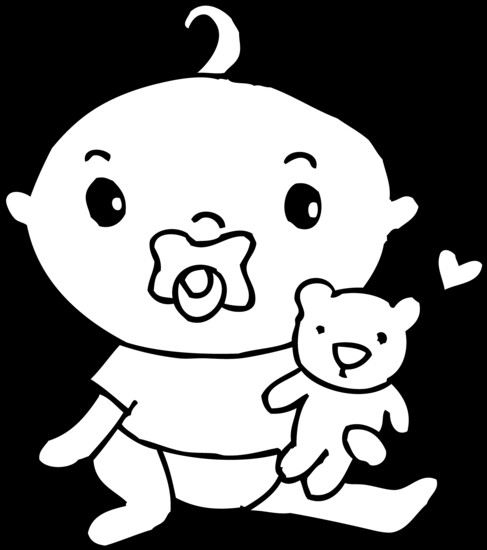 Cute Coloring Pages For Boys  Best Cute Baby Clipart Black and White Clipartion