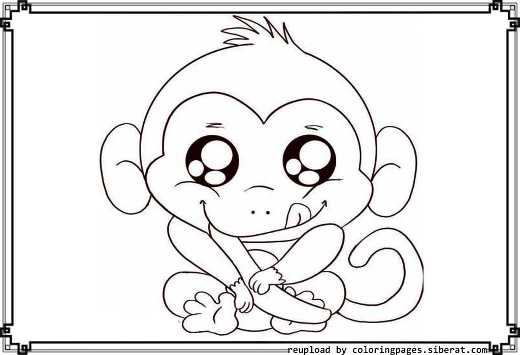 Cute Coloring Pages For Boys  Cute Baby Monkey Coloring Pages Printables Coloring Home
