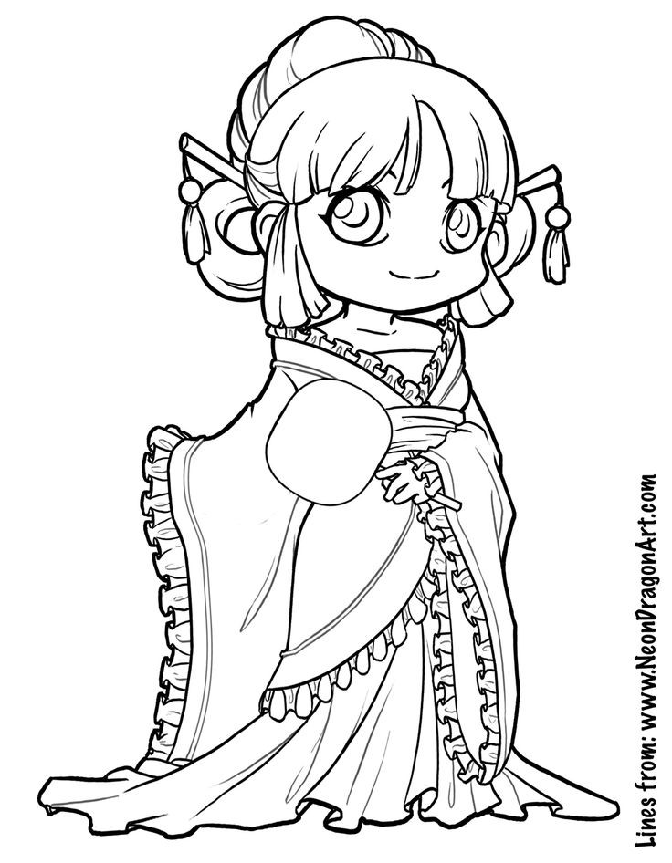 Cute Coloring Pages For Boys  Tang dynasty coloring page Art Tips