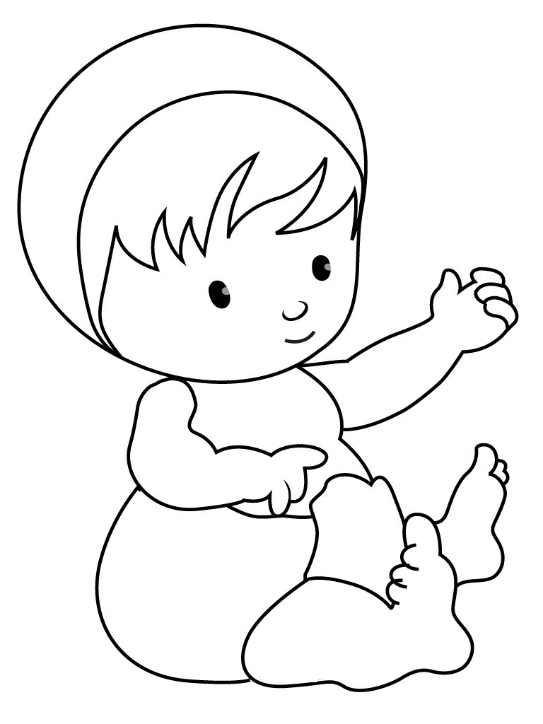 Cute Coloring Pages For Boys  Free Printable Baby Coloring Pages For Kids