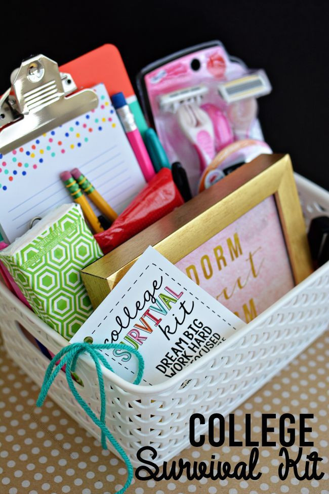 Cute Gift Ideas For Girlfriend Homemade  College Survival Kit with Printables