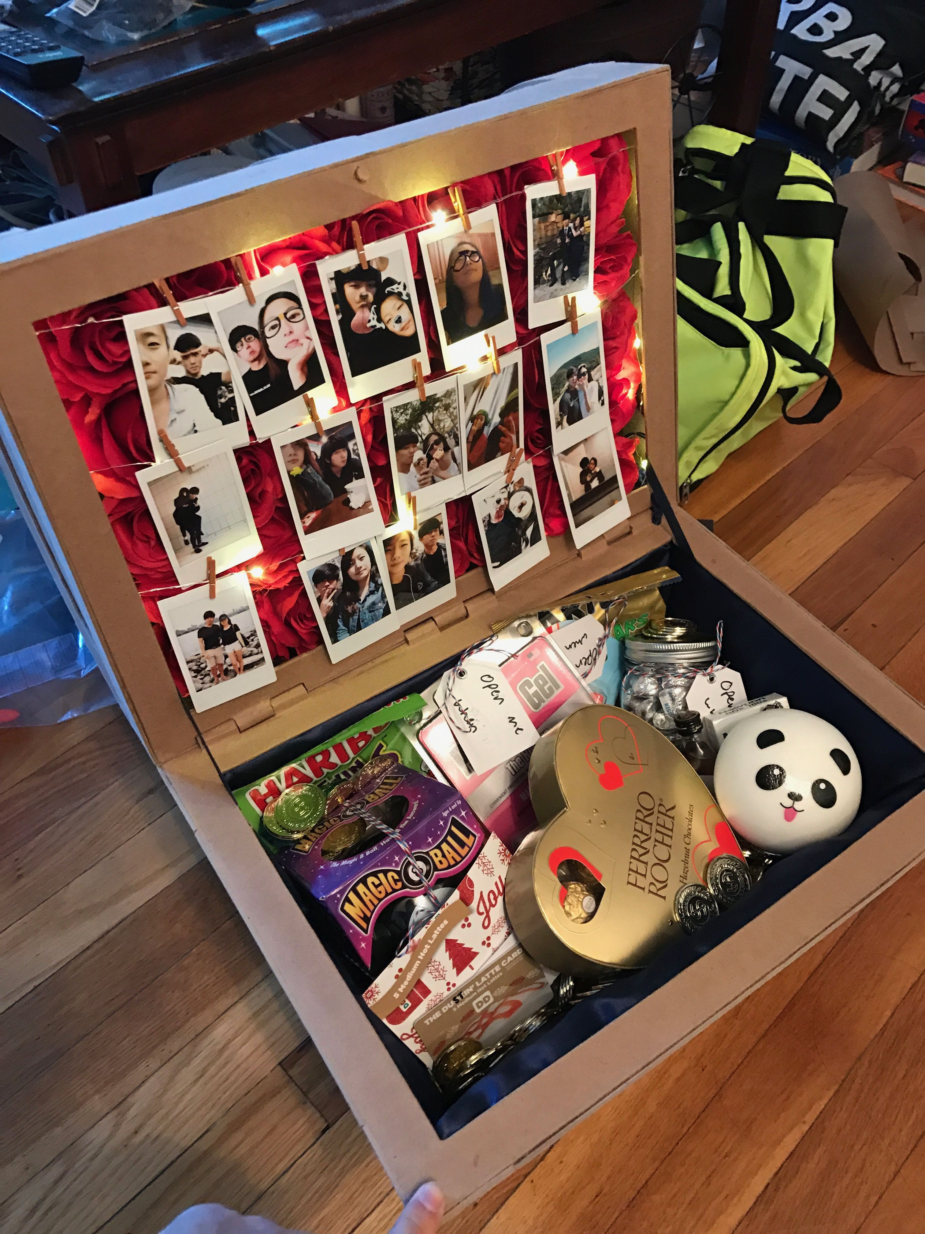 Cute Gift Ideas For Girlfriend  I made a Treasure Chest out of paper for my girlfriend