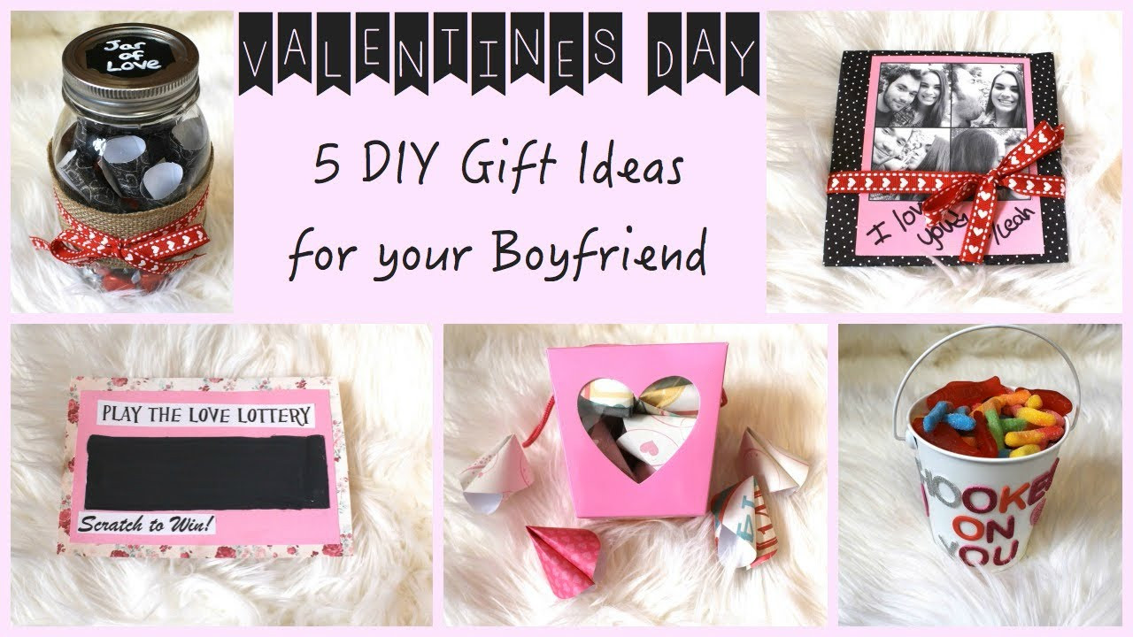 Cute Gift Ideas For Your Boyfriend  5 DIY Gift Ideas for Your Boyfriend