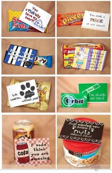 """Cute Gift Ideas For Your Boyfriend  DIY party favor ideas """"just wanted you to know how NUTS"""