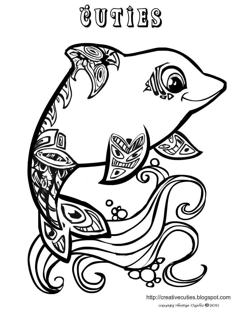 Cuties Coloring Pages  Quirky Artist Loft Cuties Free Animal Coloring Pages