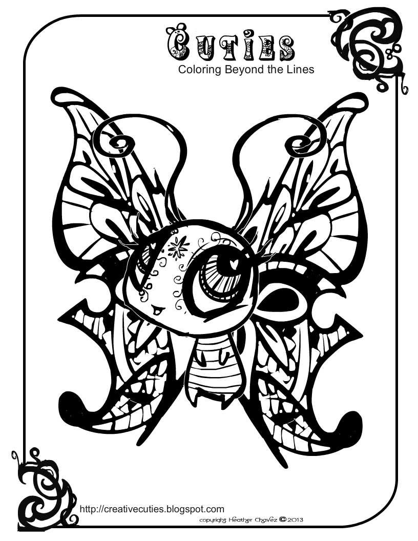 Cuties Coloring Pages  Heather Chavez Creative Cuties Animal Design