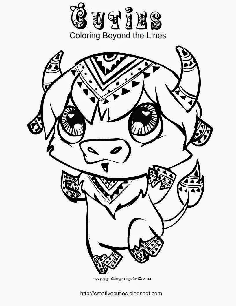 Cuties Coloring Pages  Creative Cuties