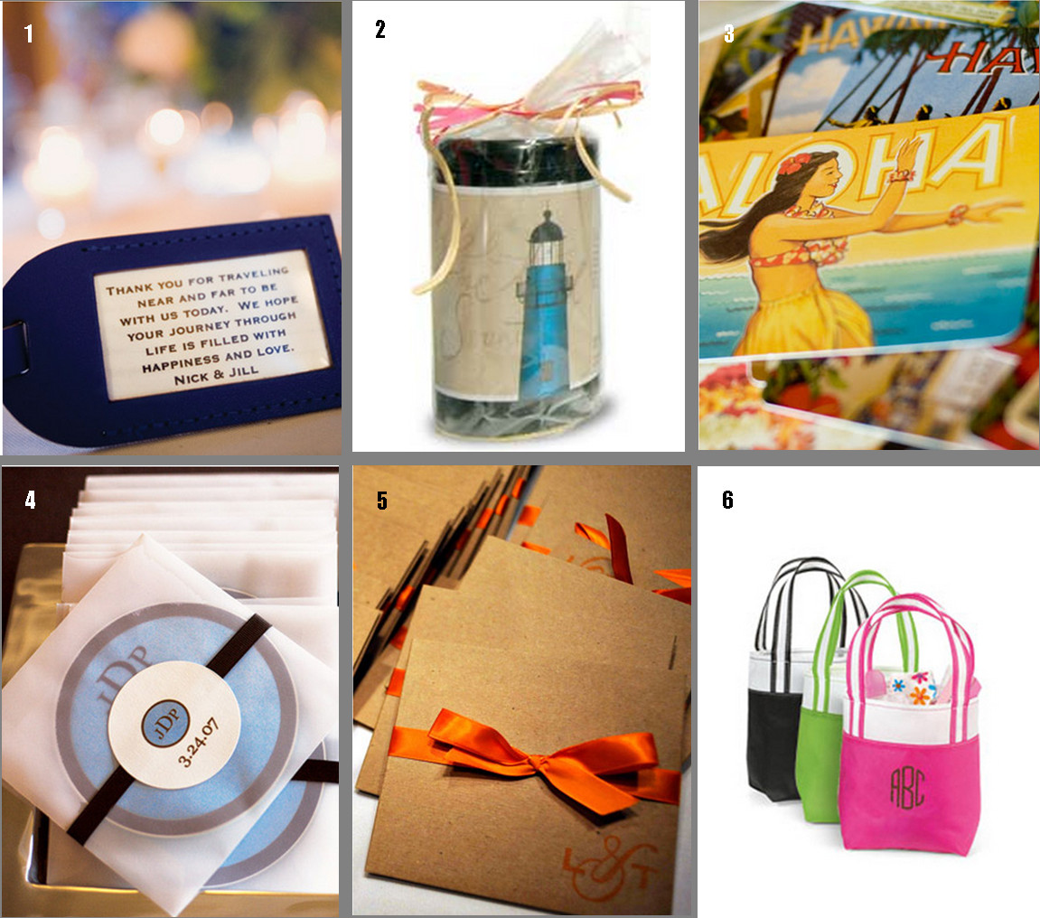 Destination Wedding Gift Ideas  Destination Wedding Gift Bag Ideas