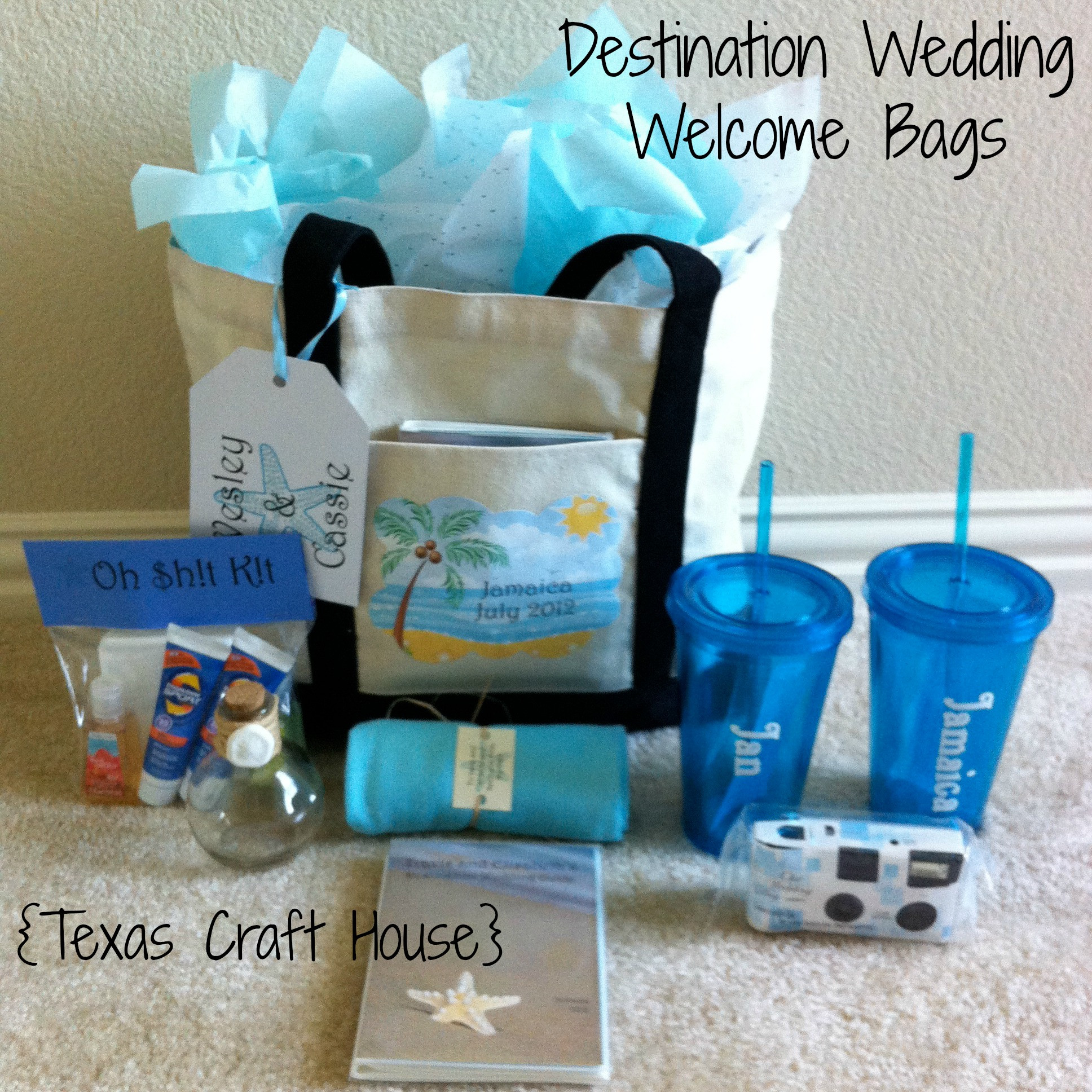 Destination Wedding Gift Ideas  Destination Wedding Wel e Bags – DIY