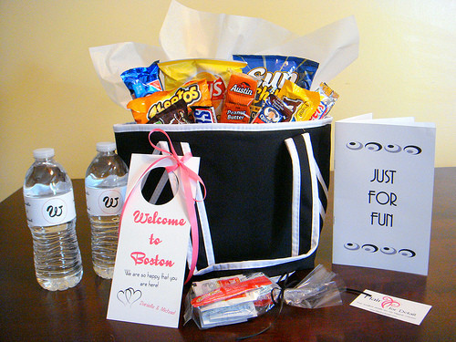 Destination Wedding Gift Ideas  Wel e Wedding Gift Basket Bag Ideas for Destination Weddings