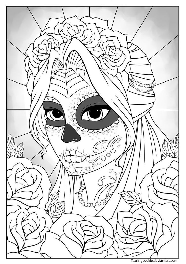 Detailed Coloring Pages Of Girls  25 best ideas about Colouring Pages on Pinterest