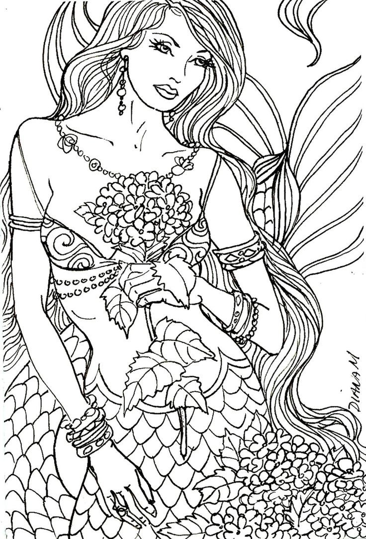 Detailed Coloring Pages Of Girls  39 best images about Artist Diane S Martin Art