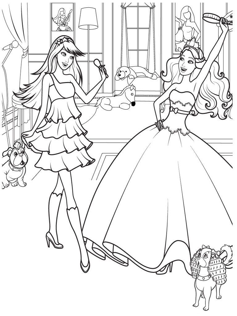 Detailed Coloring Pages Of Girls  pictures to color and print for girls